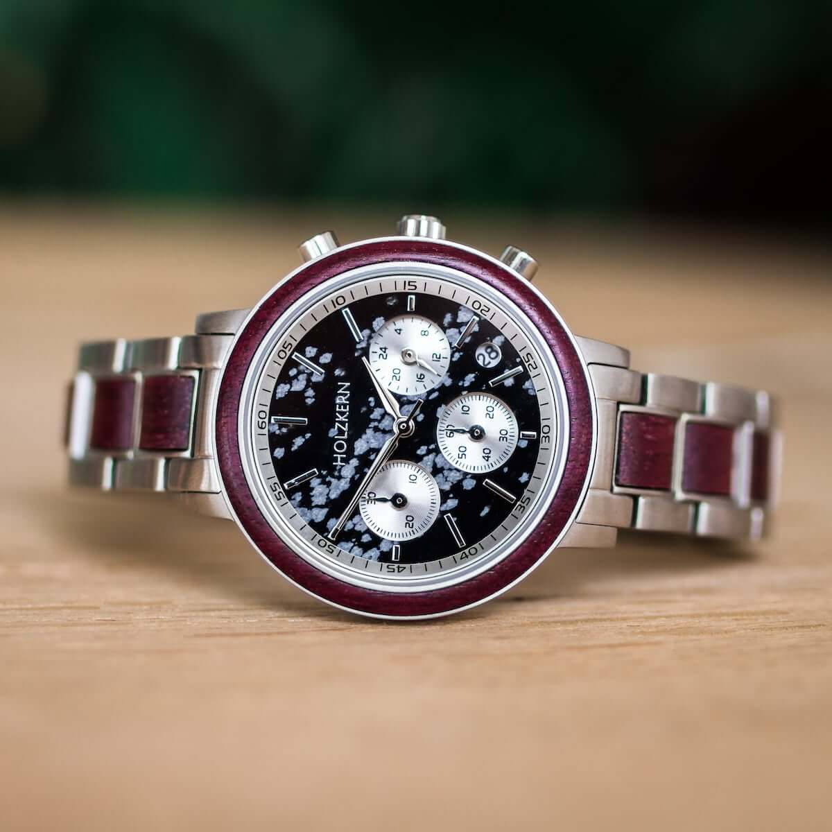 Holzkern Armbanduhr Horizont Schneesturm | Rakuten